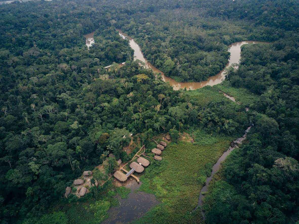 Luftbild von der Kapawi Ecolodge