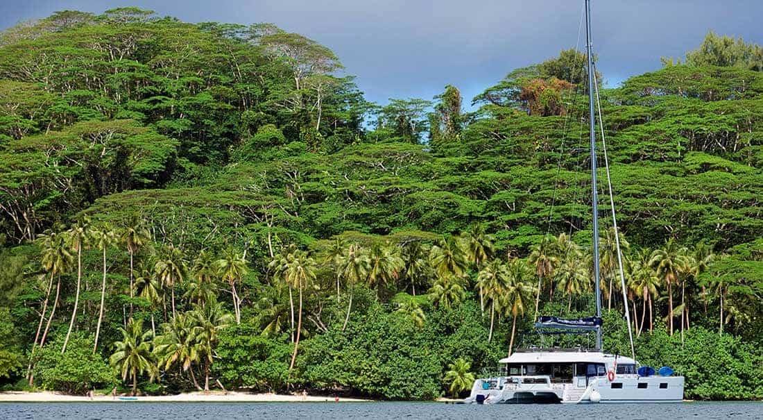 Karibische Inseln Katamaran